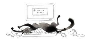 Inktober cat - #15 Relax by Anna-Talai