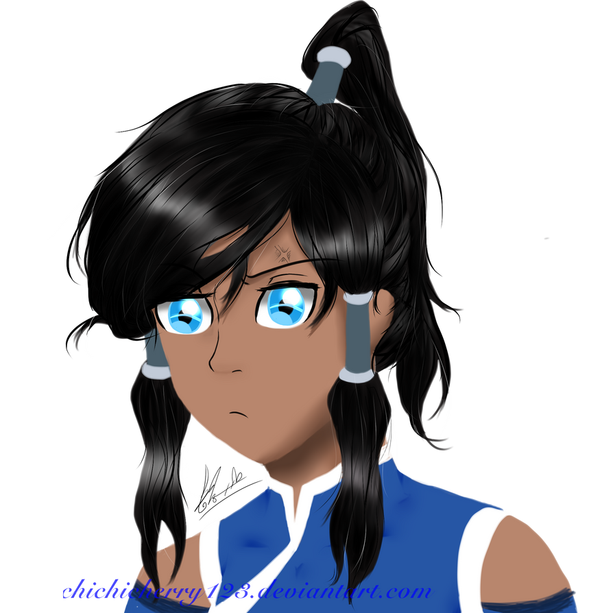 Korra Pout Face : Tablet Practice ~ by chichicherry123