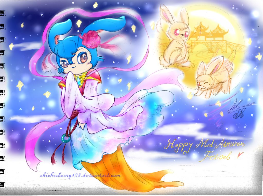 Lantu Princess: Happy Mid - Autumn Festival day  ~ by chichicherry123