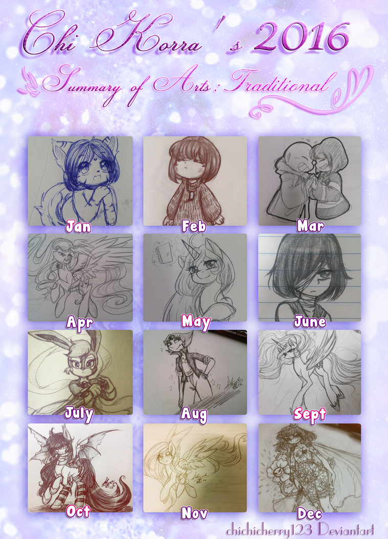 Chi Korra's 2016 Summary of Art: Traditional Arts by chichicherry123