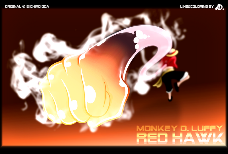 Monkey D. Luffy - Red Hawk by dDsign on DeviantArt