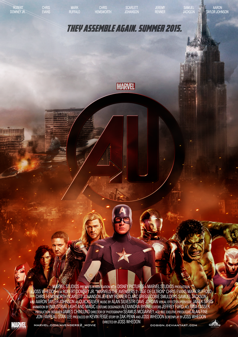 The Avengers 2 - Age of Ultron Fan Poster by dDsign on ...