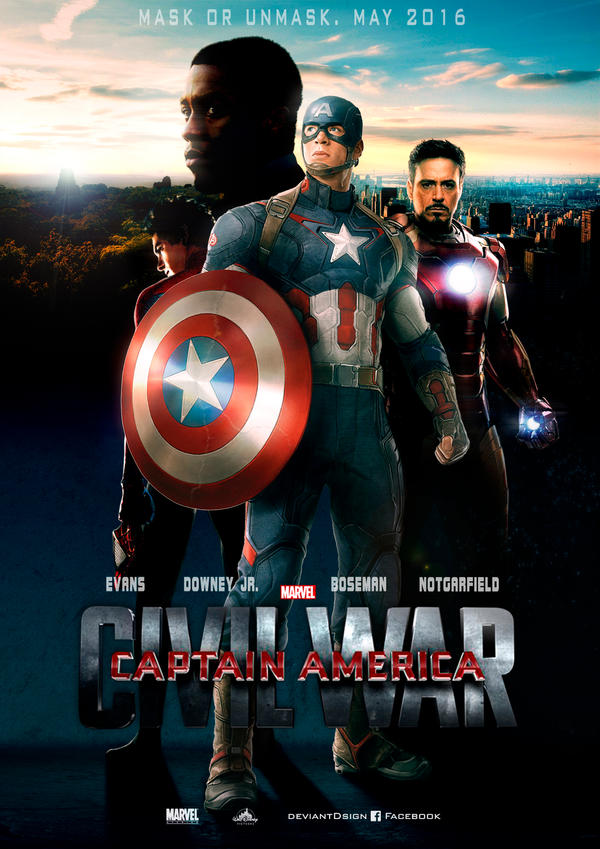 Captain America - Civil War - Poster fan-made