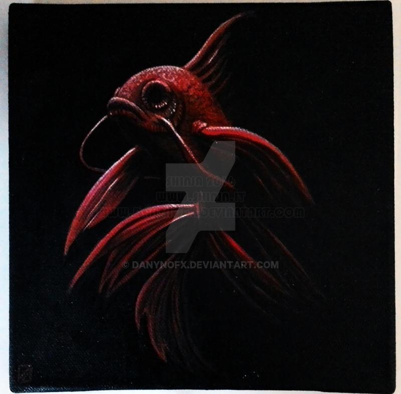Red Betta Fish by danyNoFX