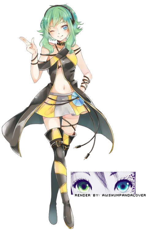 GUMI in Lily Cosplay } [ Render ] by AwshumPandaLover on DeviantArtDrawings Of Outfits Tumblr