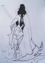 angel of death and woman by kik8