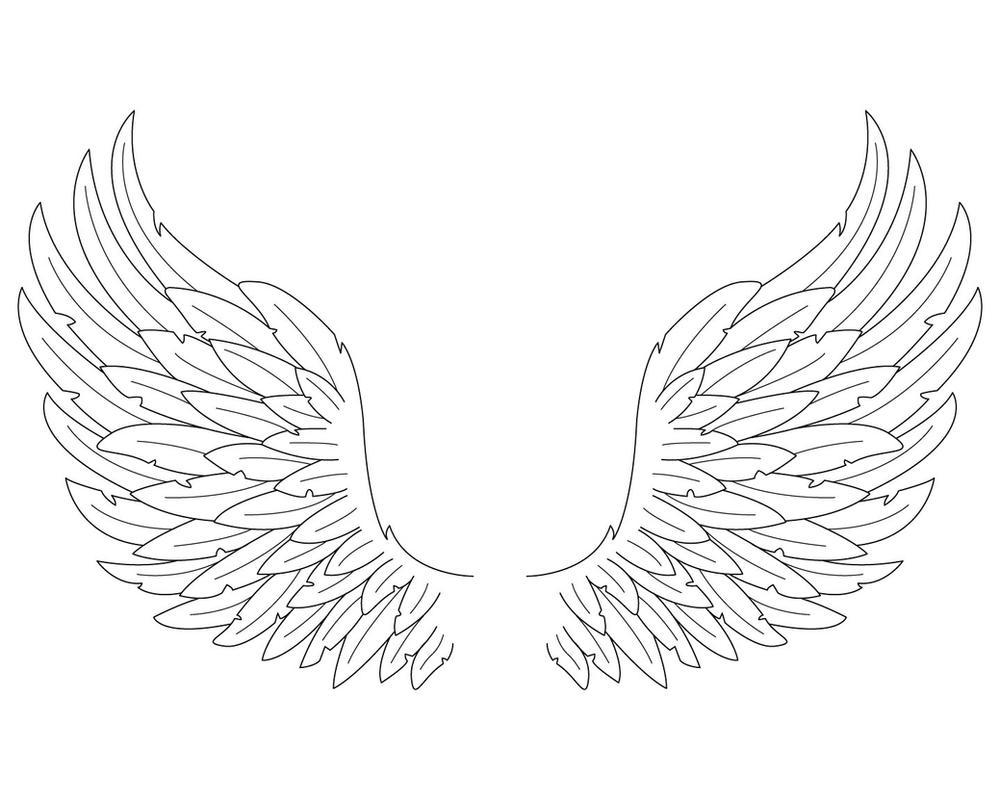 Angel Wings Coloring P...