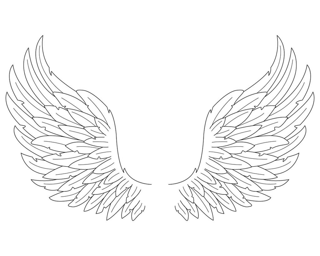 Pencil angel wings coloring pages for Coloring pages of wings