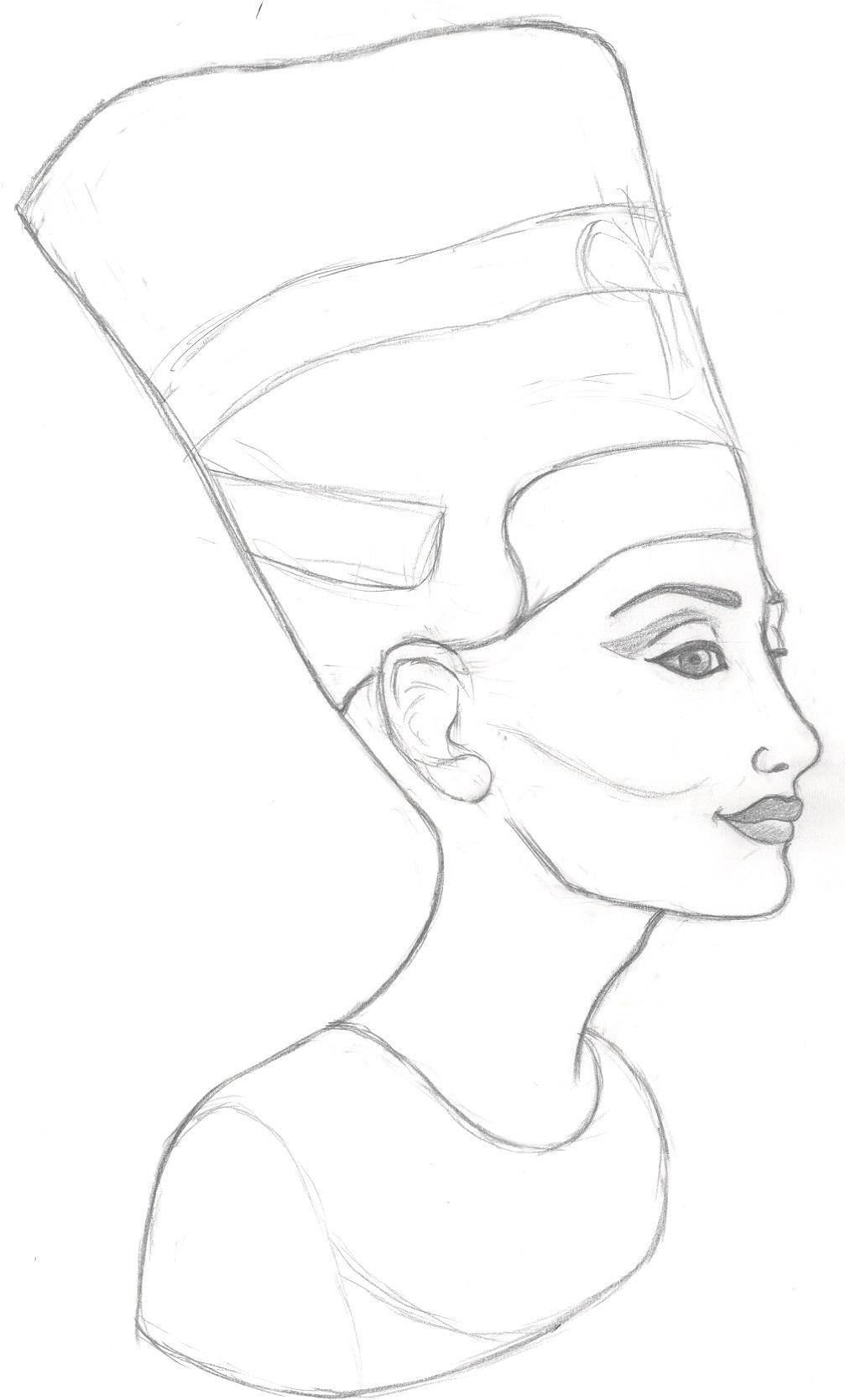 How To Draw Nefertiti