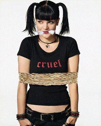 Pauley perrette bound and gagged confirm. happens