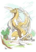 Golden Dragon by VegaNya