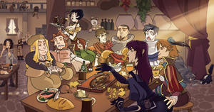 The Hairy Bear Tavern by VegaNya