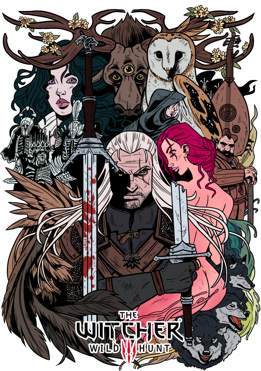 Witcher Book Cover Art ~ Tw inspired fan art witcher