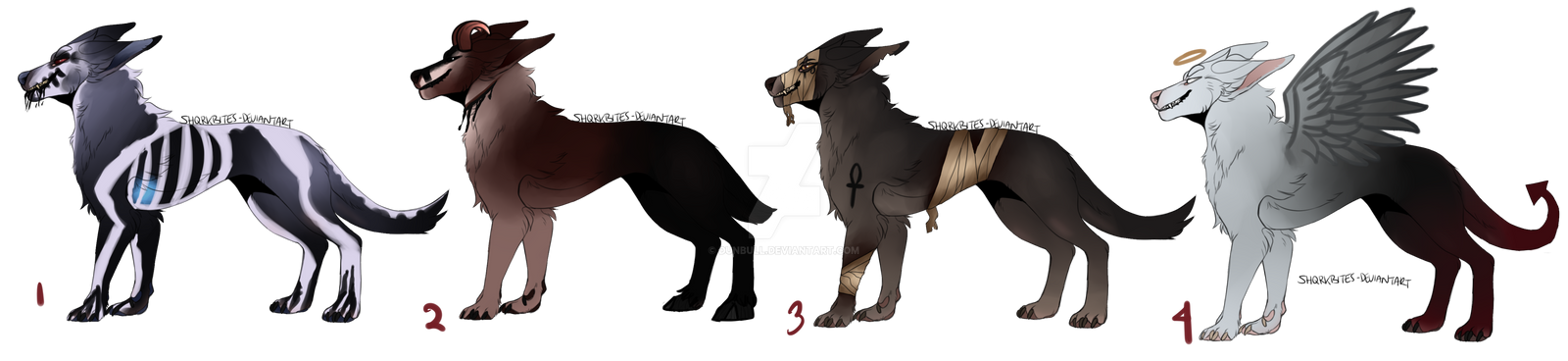spooky dog adopts #1 / CLOSED by dunbull on DeviantArt