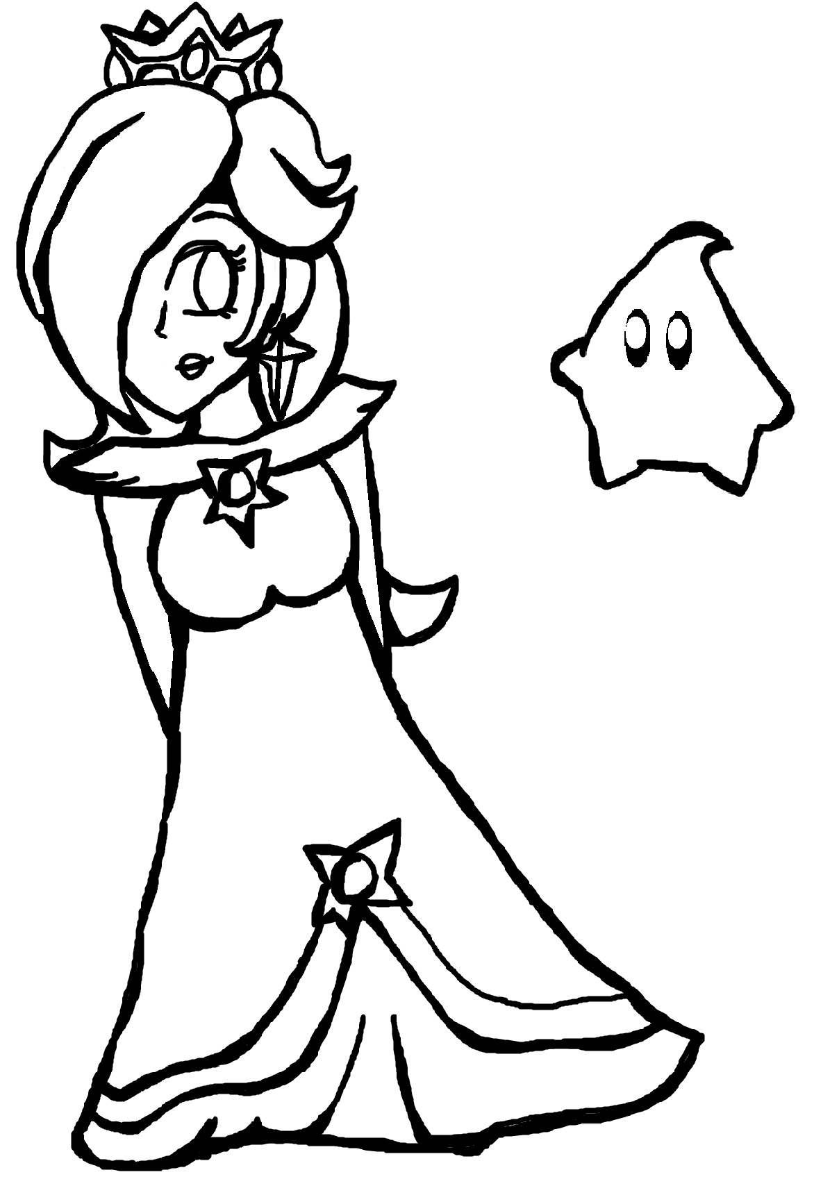 Rosalina And Luma Coloring Pages | Coloring Pages