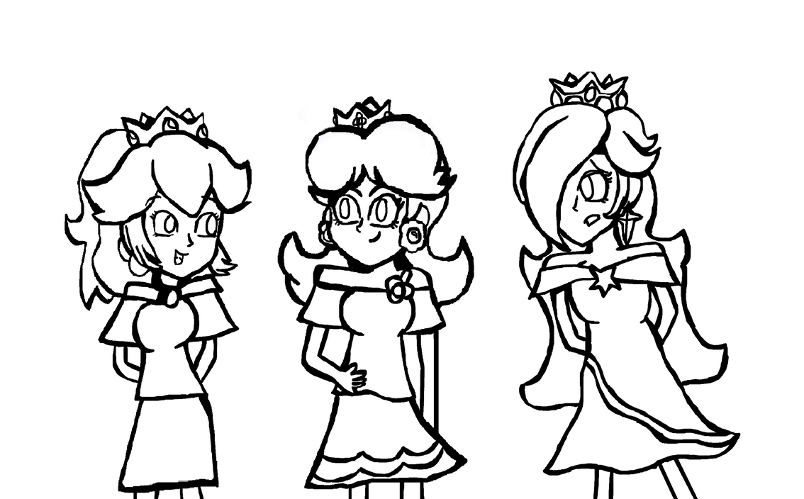 Princess rosalina coloring pages - Princess Peach And Daisy Coloring Pages Az