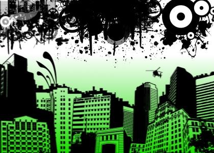 Grunge City Splatters by annadigiovanni