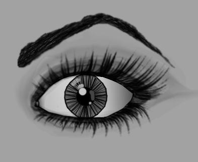 Digital Eye Drawing by annadigiovanni