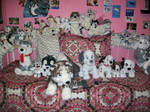 My whole bed!! :D