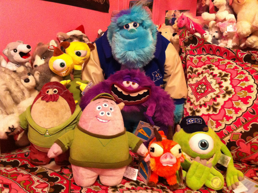 Monsters University Disney Store Plush Collection by ...