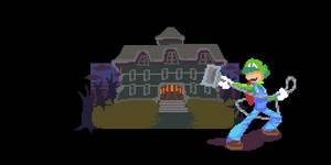 Pixel Dailie-025 Luigis Mansion
