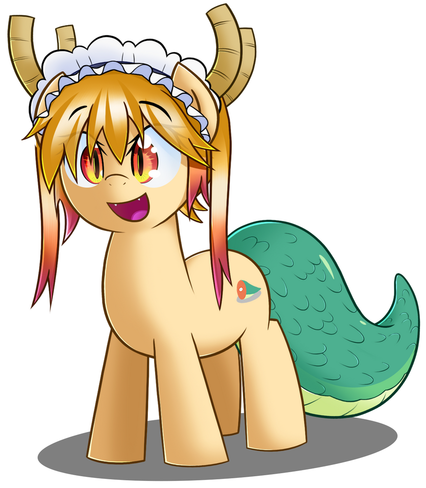 Tohru from Miss Kobayashi Dragon Maid by sykobelle