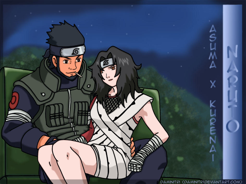 Asuma and Kurenai WP by Daminitri