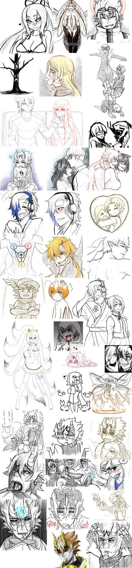 Doodles by athenabeta