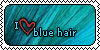 Blue hair stamp by thaChaosCreator