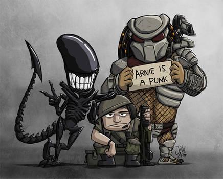 Aliens vs. Predator Group Photo
