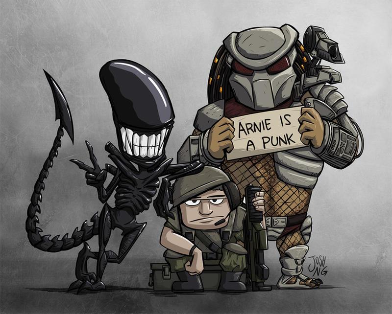 Alien Vs. Predator !!! - Seite 3 Aliens_vs__predator_group_photo_by_joshng-d7nk4q6