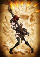 Steampunk Rocker Chick by JoshNg
