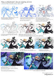 Process - Elsa vs Maleficent by JoshNg