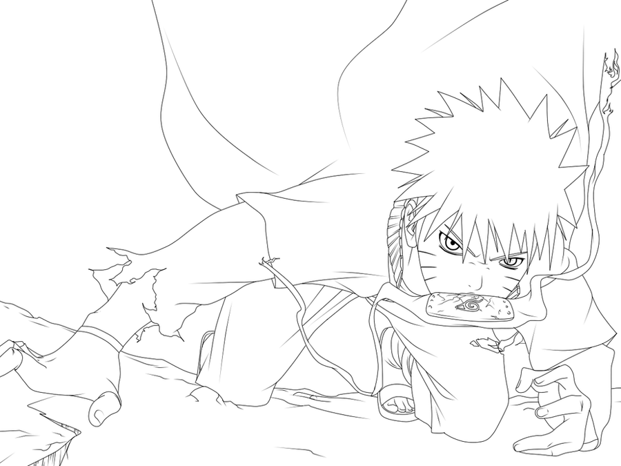 Uzumaki naruto lineart by silvercore94 on deviantart for Naruto uzumaki coloring pages