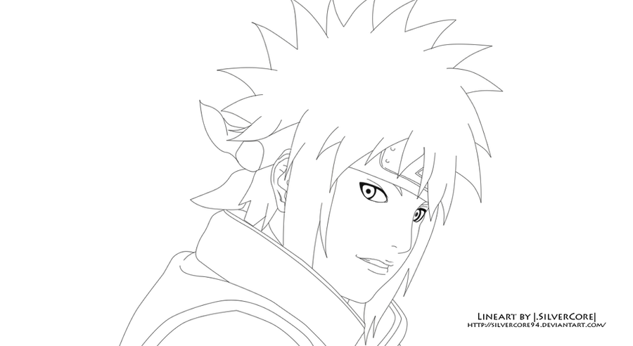 minato namikaze lineart by silvercore94