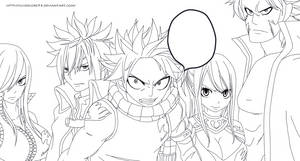 Fairy Tail 267 lineart by SilverCore94