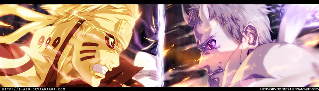 Naruto 651 - Naruto vs Obito (Collab) by SilverCore94