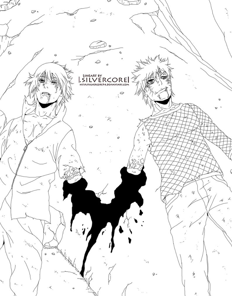 Naruto 698 - lineart by SilverCore94