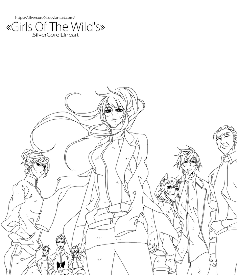 Girls Of The Wild's lineart by SilverCore94