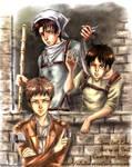 Jean, Levi, Eren