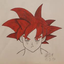 Goku SSJGSSJ SSJRED red goku :D