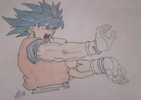 Goku SSJGSSJ SSJBLUE blue goku with kamehameha v2