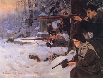 Orleta Eaglets defending the Cemetery Lwow.