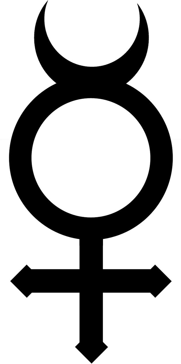 Меркурия знаком иероглифы под