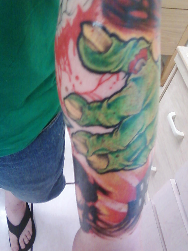 lower left arm sleeve color p1 - sleeve tattoo