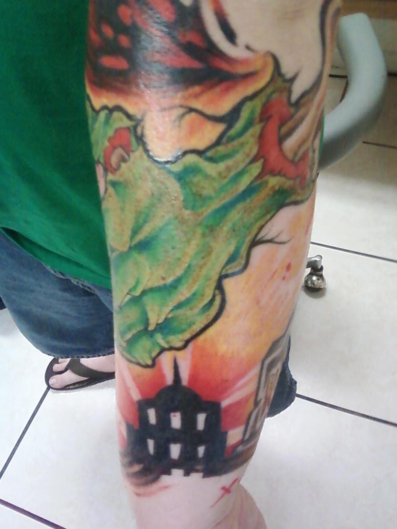 lower left arm sleeve color p2 - sleeve tattoo