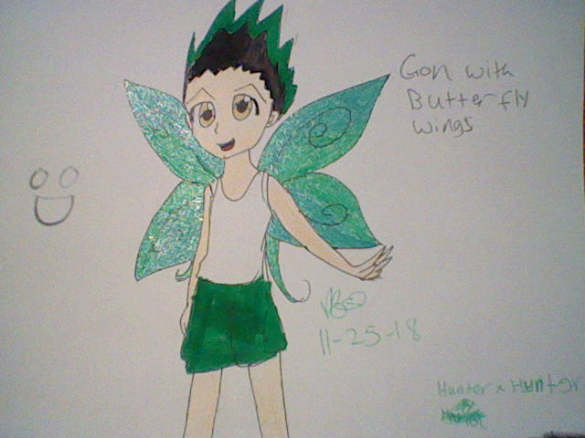 Gon with butterfly wings by Vidabigley