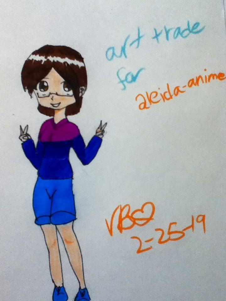Art trade with Alida-anime by Vidabigley