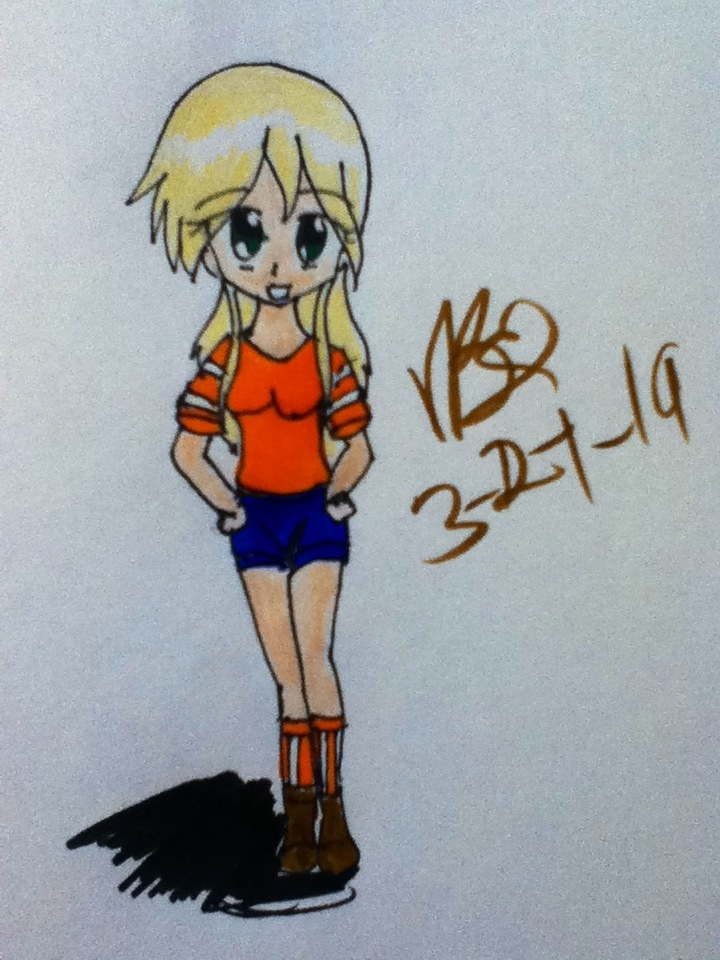 Mine craft girl in anime form by Vidabigley