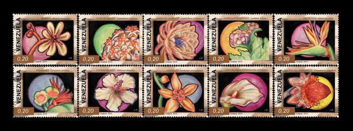 Estampillas flores de Venezuel